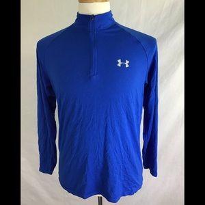 Under Armour Quarter Zip Shirt Size M Blue